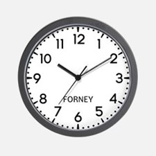 Forney Newsroom Wall Clock