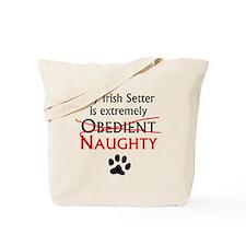 Naughty Irish Setter Tote Bag