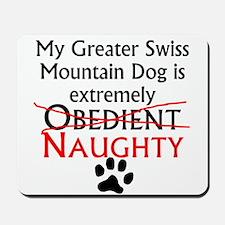 Naughty Greater Swiss Mountain Dog Mousepad