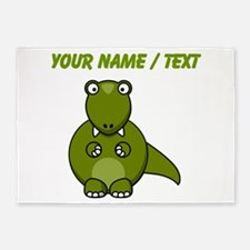 Custom Cartoon T-Rex 5'x7'Area Rug