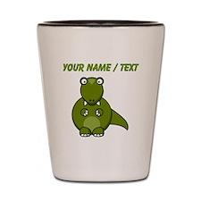 Custom Cartoon T-Rex Shot Glass