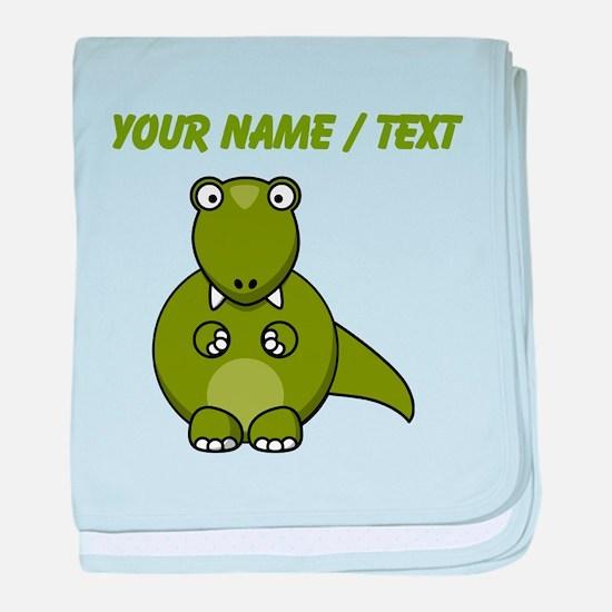 Custom Cartoon T-Rex baby blanket