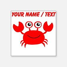 Custom Red Crab Sticker