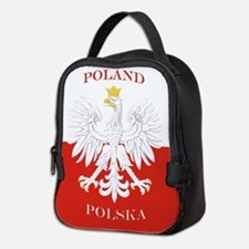 Poland Polska White Eagle Flag Neoprene Lunch Bag