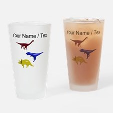 Custom Dinosaurs Drinking Glass