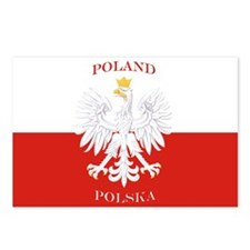 Poland Polska White Eagle Flag Postcards (Package