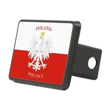 Poland Polska White Eagle Flag Hitch Cover