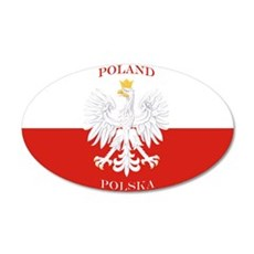 Poland Polska White Eagle Flag Wall Decal