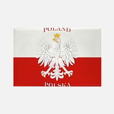 Poland Polska White Eagle Flag Magnets