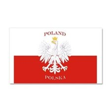 Poland Polska White Eagle Flag Car Magnet 20 x 12