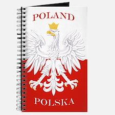 Poland Polska White Eagle Flag Journal