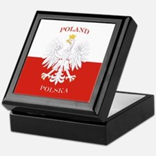 Poland Polska White Eagle Flag Keepsake Box