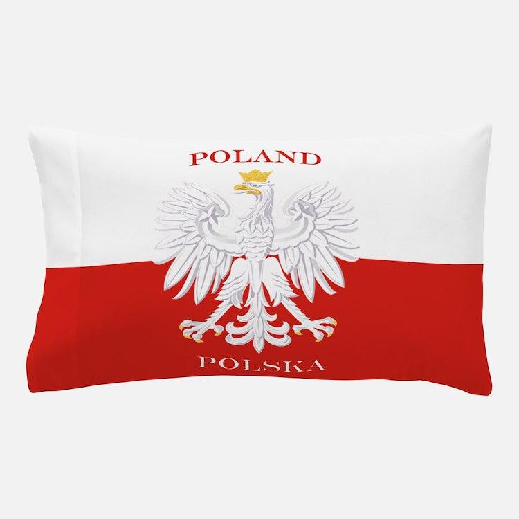 Poland Polska White Eagle Flag Pillow Case