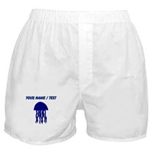 Custom Blue Jellyfish Boxer Shorts