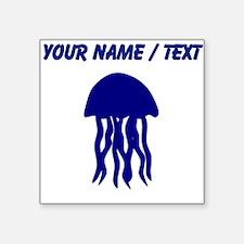 Custom Blue Jellyfish Sticker