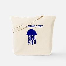 Custom Blue Jellyfish Tote Bag