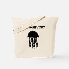Custom Black Jellyfish Tote Bag