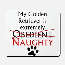 Naughty Golden Retriever Mousepad