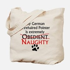 Naughty German Wirehaired Pointer Tote Bag