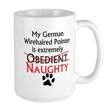 Naughty German Wirehaired Pointer Mugs