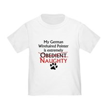 Naughty German Wirehaired Pointer T-Shirt