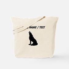 Custom Howling Wolf Tote Bag