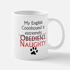 Naughty English Coonhound Mugs