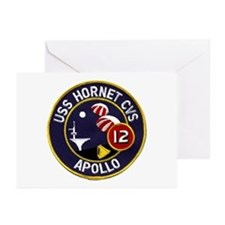 USS Hornet & Apollo 12 Greeting Cards (Pk of 10)