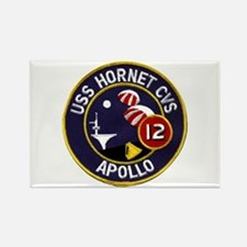 USS Hornet & Apollo 12 Rectangle Magnet