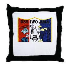 USS Iwo Jima & Apollo 13 Throw Pillow