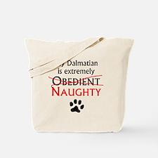 Naughty Dalmatian Tote Bag