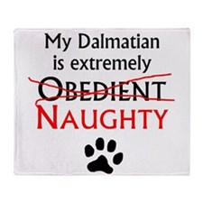 Naughty Dalmatian Throw Blanket