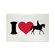 I love riding horses Rectangle Magnet (100 pack)