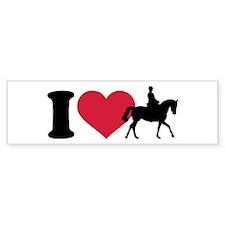 I love riding horses Bumper Sticker