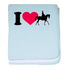 I love riding horses baby blanket