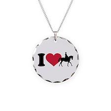 I love riding horses Necklace Circle Charm