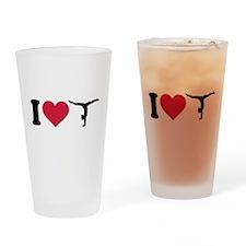 I love Gymnastics Drinking Glass