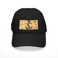 seashells nautical map vintage anchor Baseball Hat