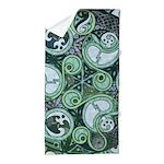 Celtic Stormy Sea Mandala Beach Towel
