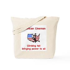 American Lineman Tote Bag