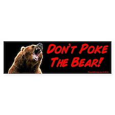 Don't Poke The Bear Bumper Car Sticker