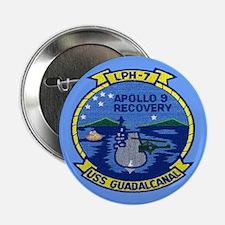 """USS Guadalcanal Apollo 9 Recovery 2.25"""" Button"""