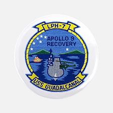 """USS Guadalcanal Apollo 9 Recovery 3.5"""" Button"""
