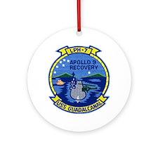 USS Guadalcanal Apollo 9 Recovery Ornament (Round)