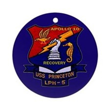 Apollo 10 Recovery USS Princeton Ornament (Round)