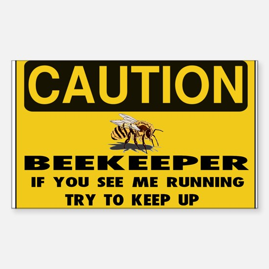 Caution Beekeeper Men Decal
