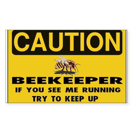 Caution Beekeeper Men Sticker