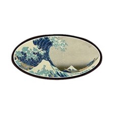 The Great Wave Mt Fuji Patches