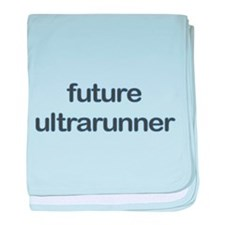 Future Ultrarun Blue baby blanket