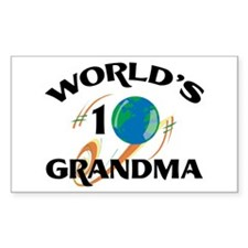 World's #1 Grandma Rectangle Decal
